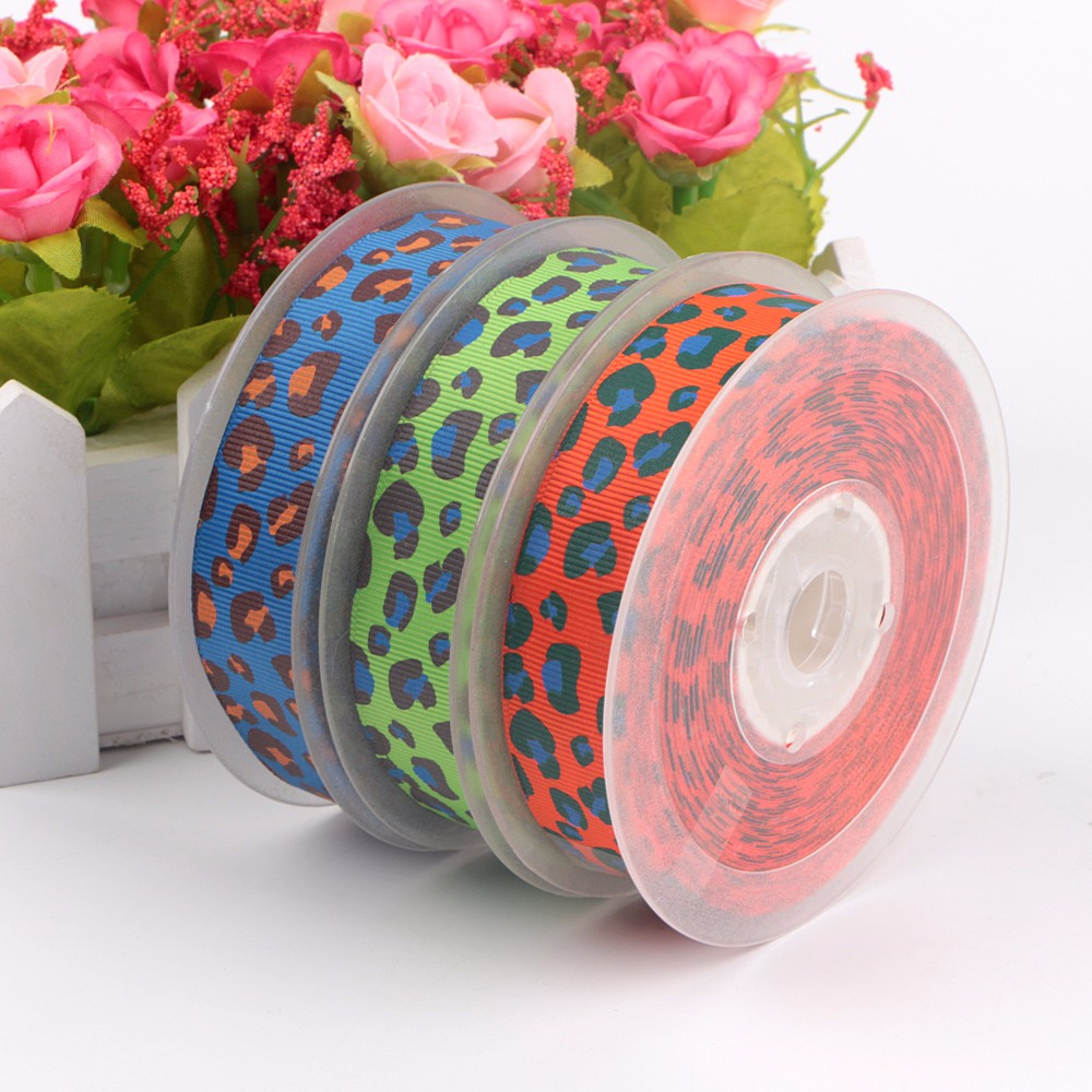 2.5mm Custom Printed Ribbon Leopard Print