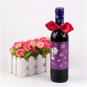 Red Color Ribbon Bow Bottle Packaging bows