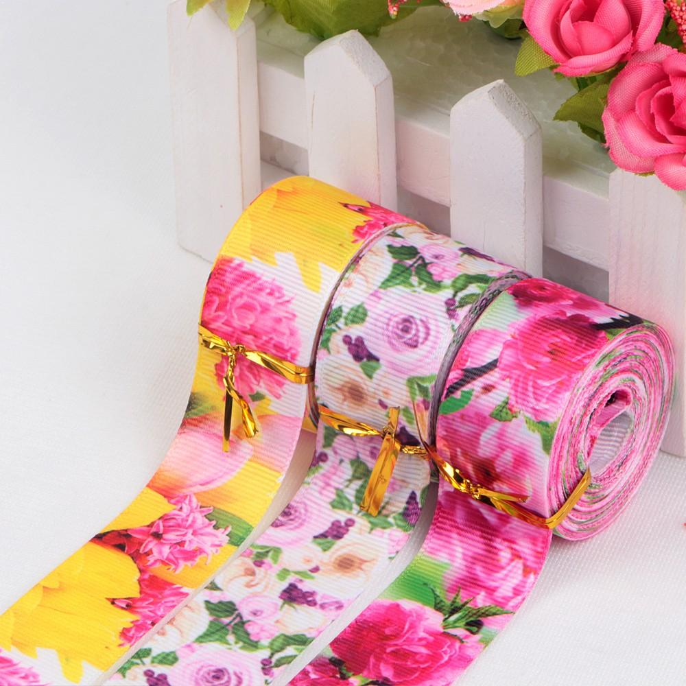Various color grosgrain ribbon printed with floral designs Manufacturers, Various color grosgrain ribbon printed with floral designs Factory, Supply Various color grosgrain ribbon printed with floral designs
