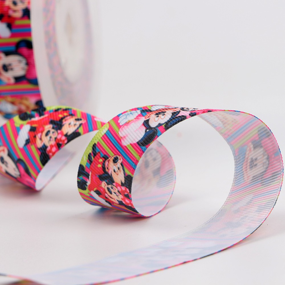 Roll packing single face printed ribbon with mickey pattern Manufacturers, Roll packing single face printed ribbon with mickey pattern Factory, Supply Roll packing single face printed ribbon with mickey pattern