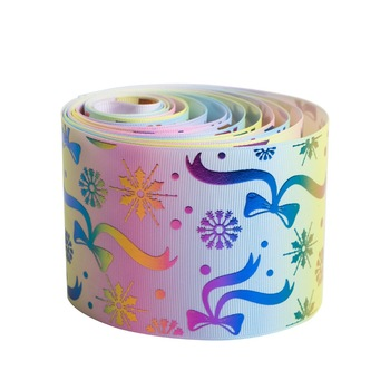 printed satin ribbon