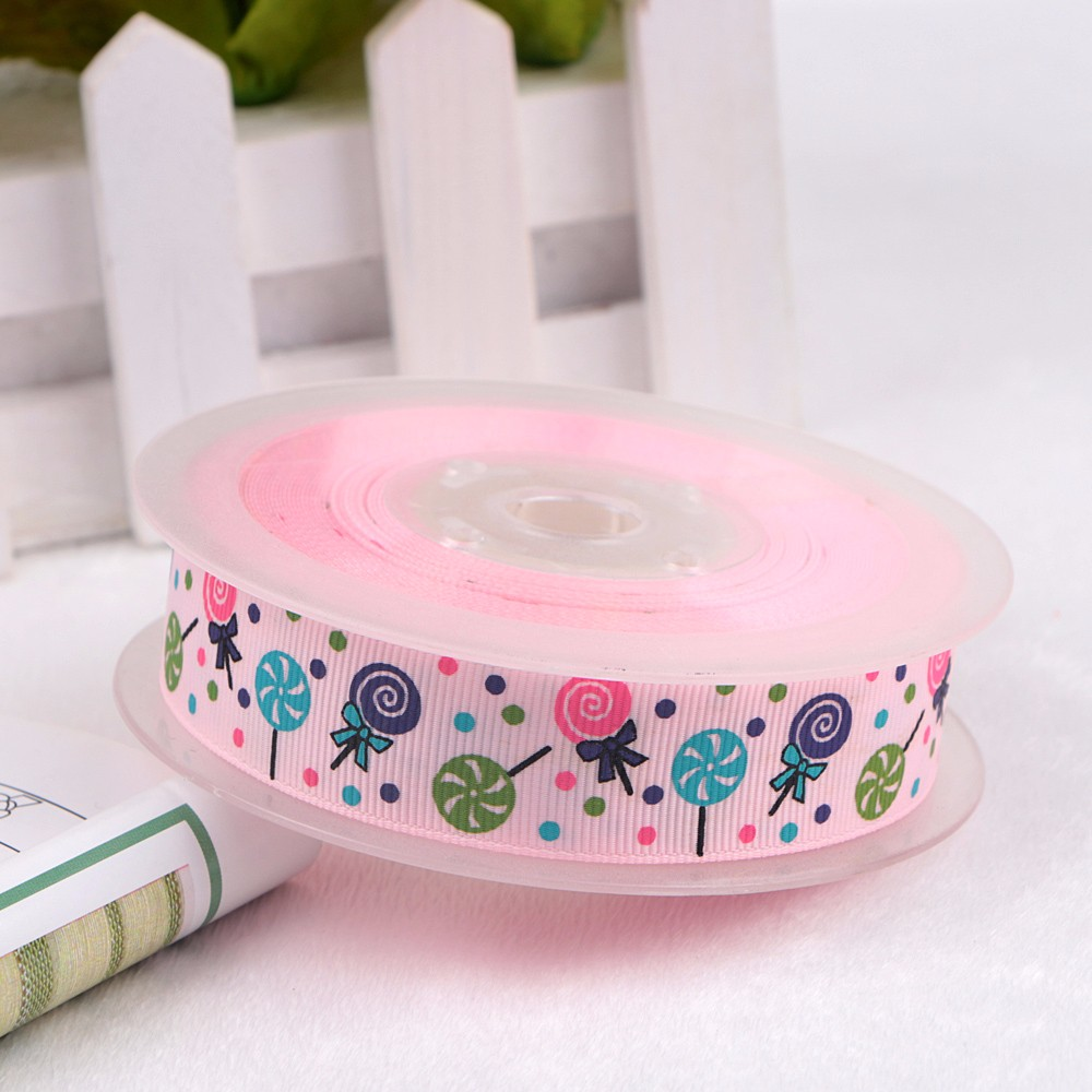 Wholesale grosgrain custom printed ribbon customized birthday ribbon shop online