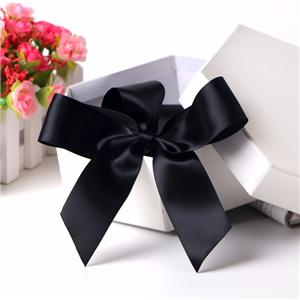 Custom foldable paper gift bags ribbon black present ribbon bow