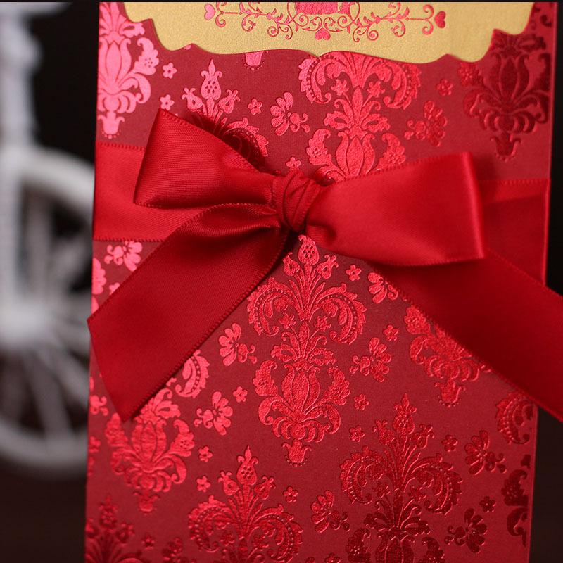 custom ribbon bow for invitation card decoration