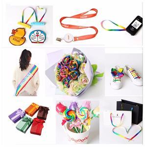 Daily application of ribbon,printed ribbon and ribbon bow