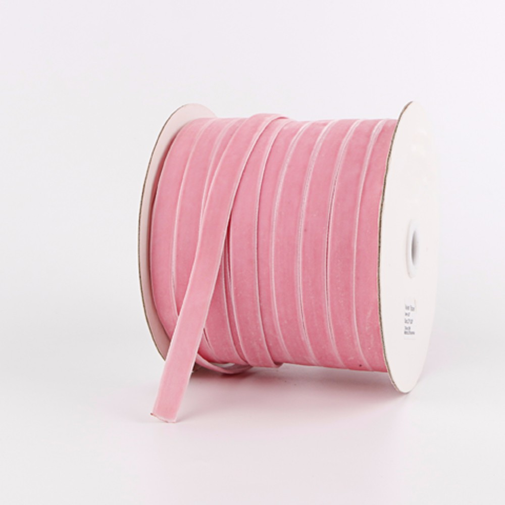 Pink velvet ribbon 100yard roll packed custom ribbon Manufacturers, Pink velvet ribbon 100yard roll packed custom ribbon Factory, Supply Pink velvet ribbon 100yard roll packed custom ribbon