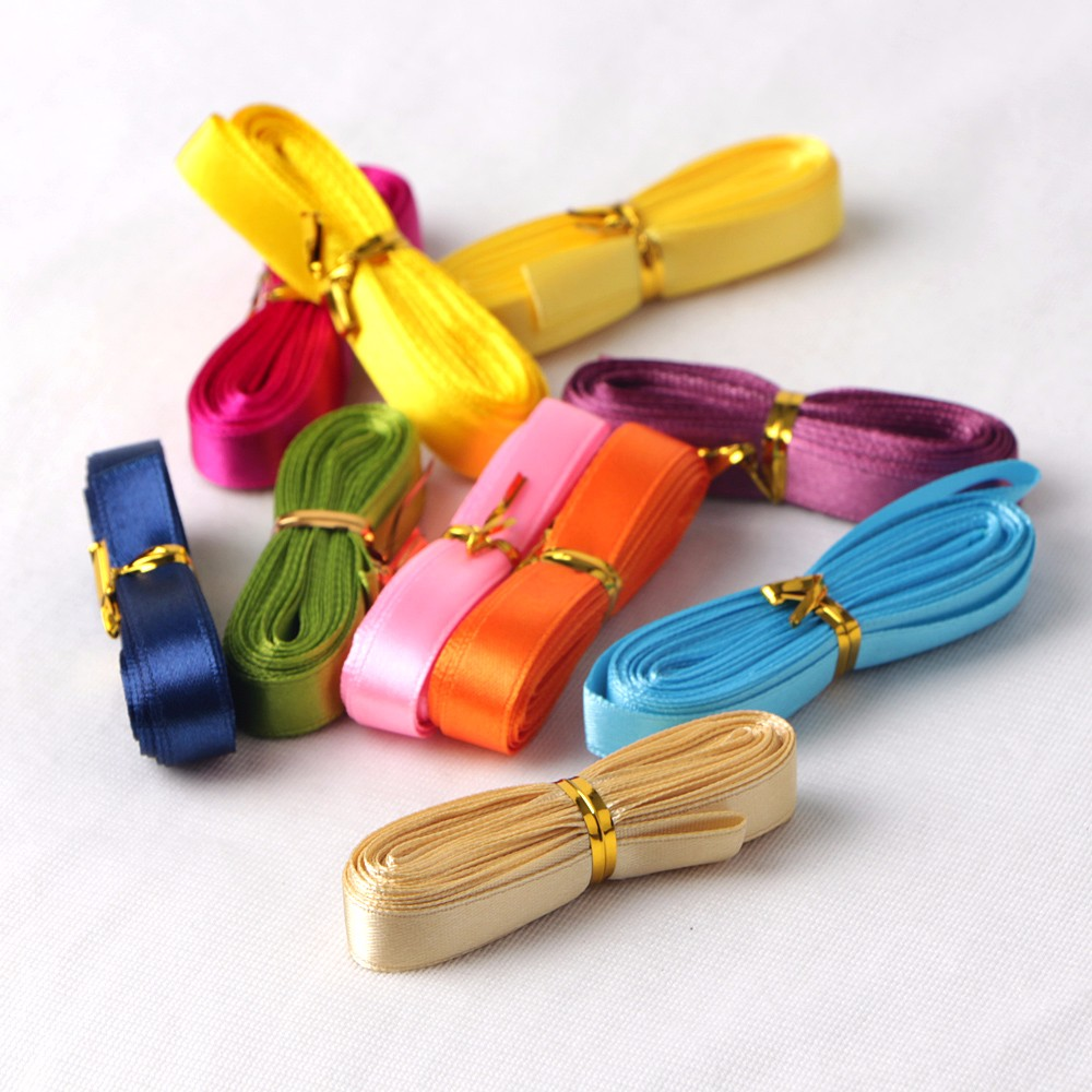 Wholesale 9mm satin ribbon navy blue 10colors suit custom ribbon