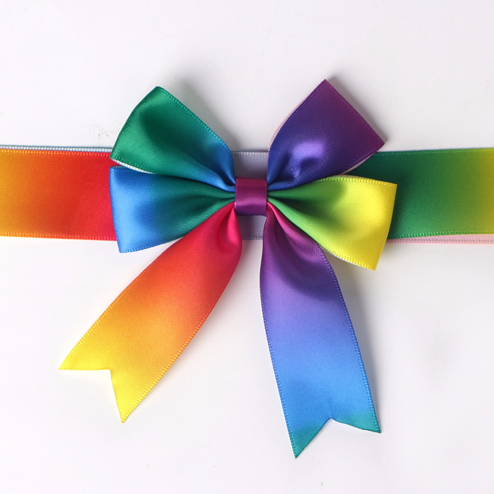 rainbow satin ribbon