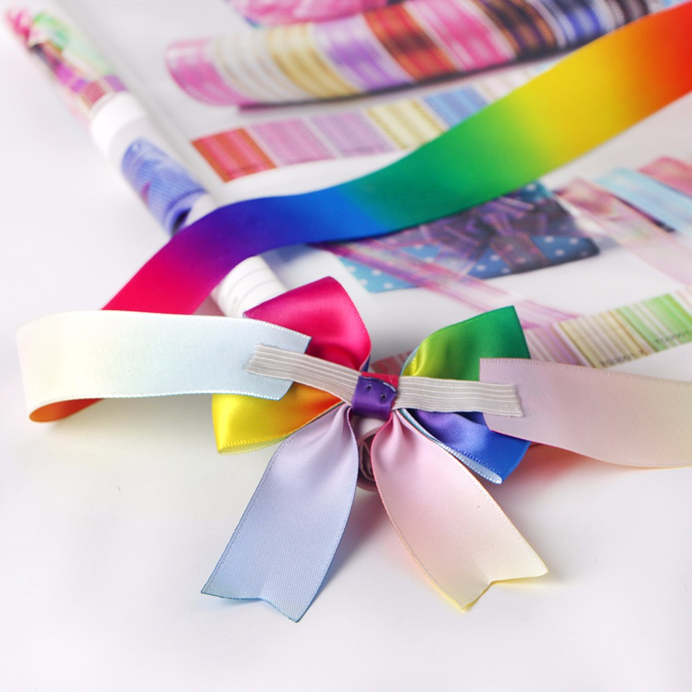 fish tail cut ribbon bow