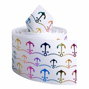 Newest design polyester grosgrain ribbon single faced printed ribbon