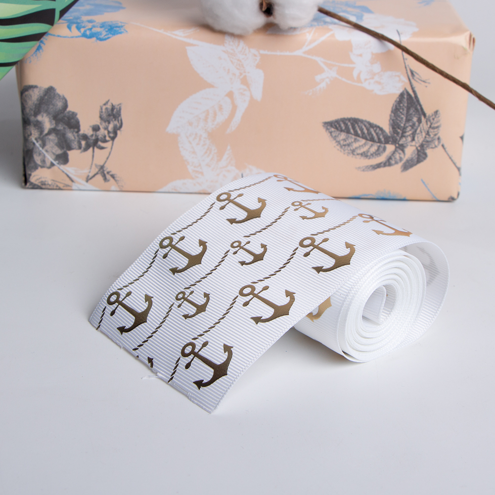 single faced printed ribbon