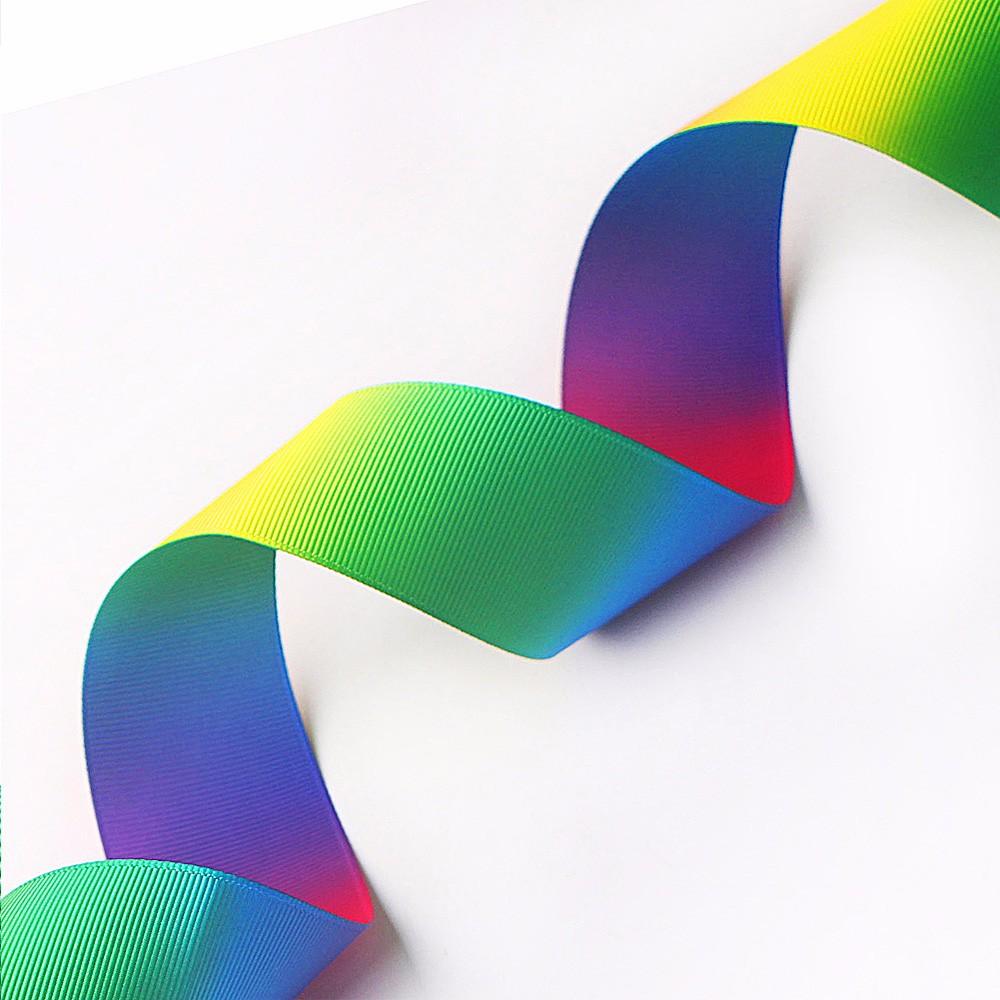 Double faced printed rainbow groagrain ribbon Manufacturers, Double faced printed rainbow groagrain ribbon Factory, Supply Double faced printed rainbow groagrain ribbon