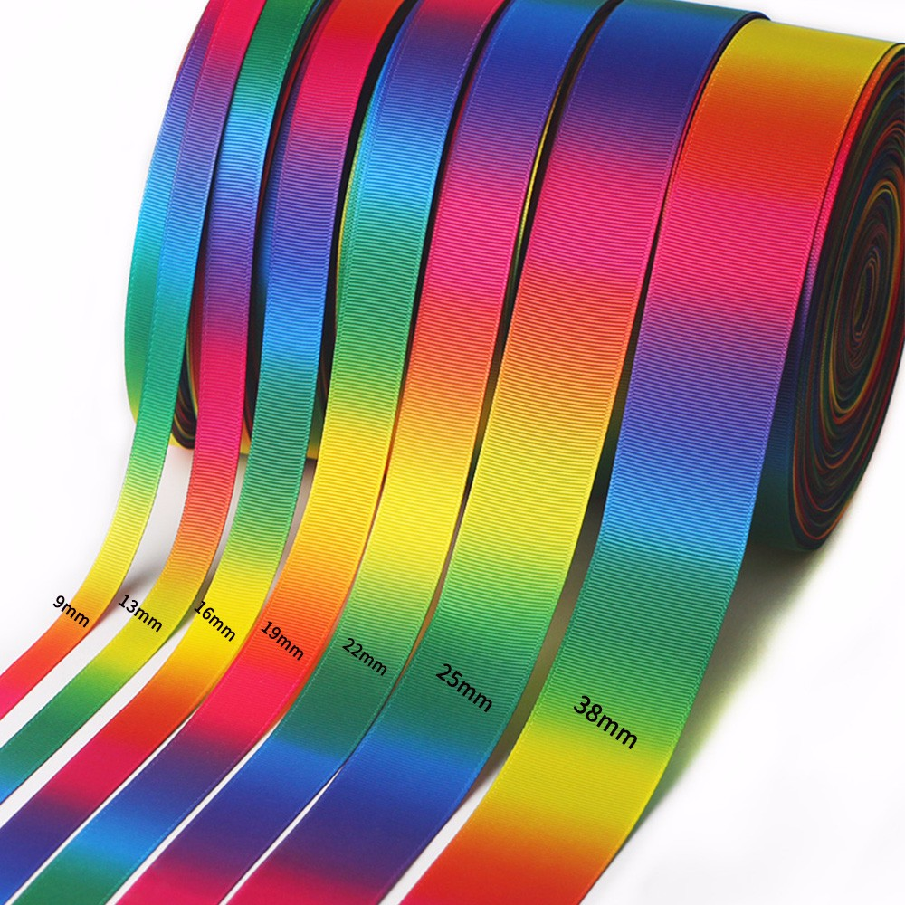 double faced printed ribbon