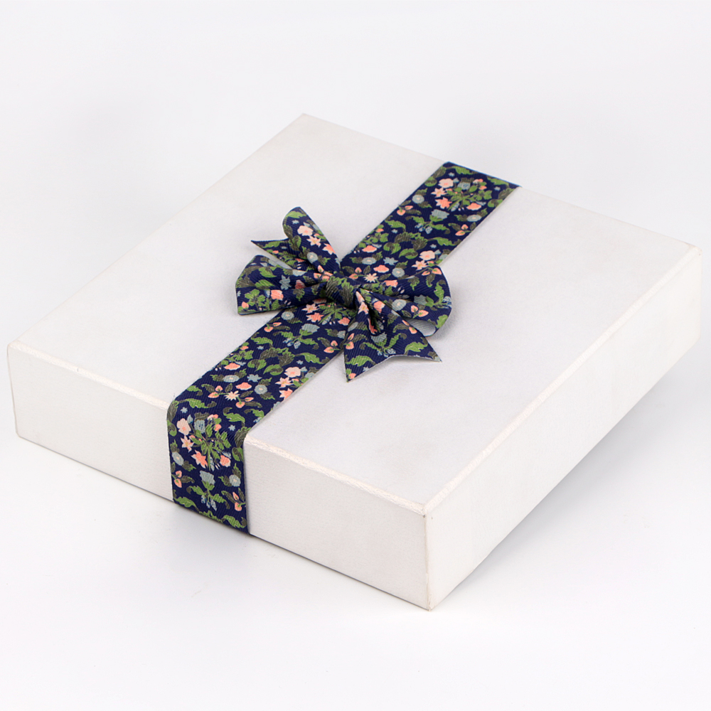Grosgrain ribbon printed