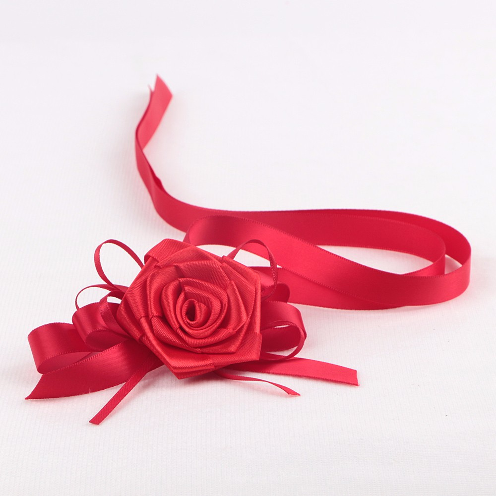 Satin premade packaging ribbon and bows gift bow making for box