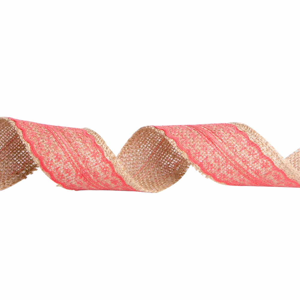 Custom burlap ribbon with lace fabric Manufacturers, Custom burlap ribbon with lace fabric Factory, Supply Custom burlap ribbon with lace fabric
