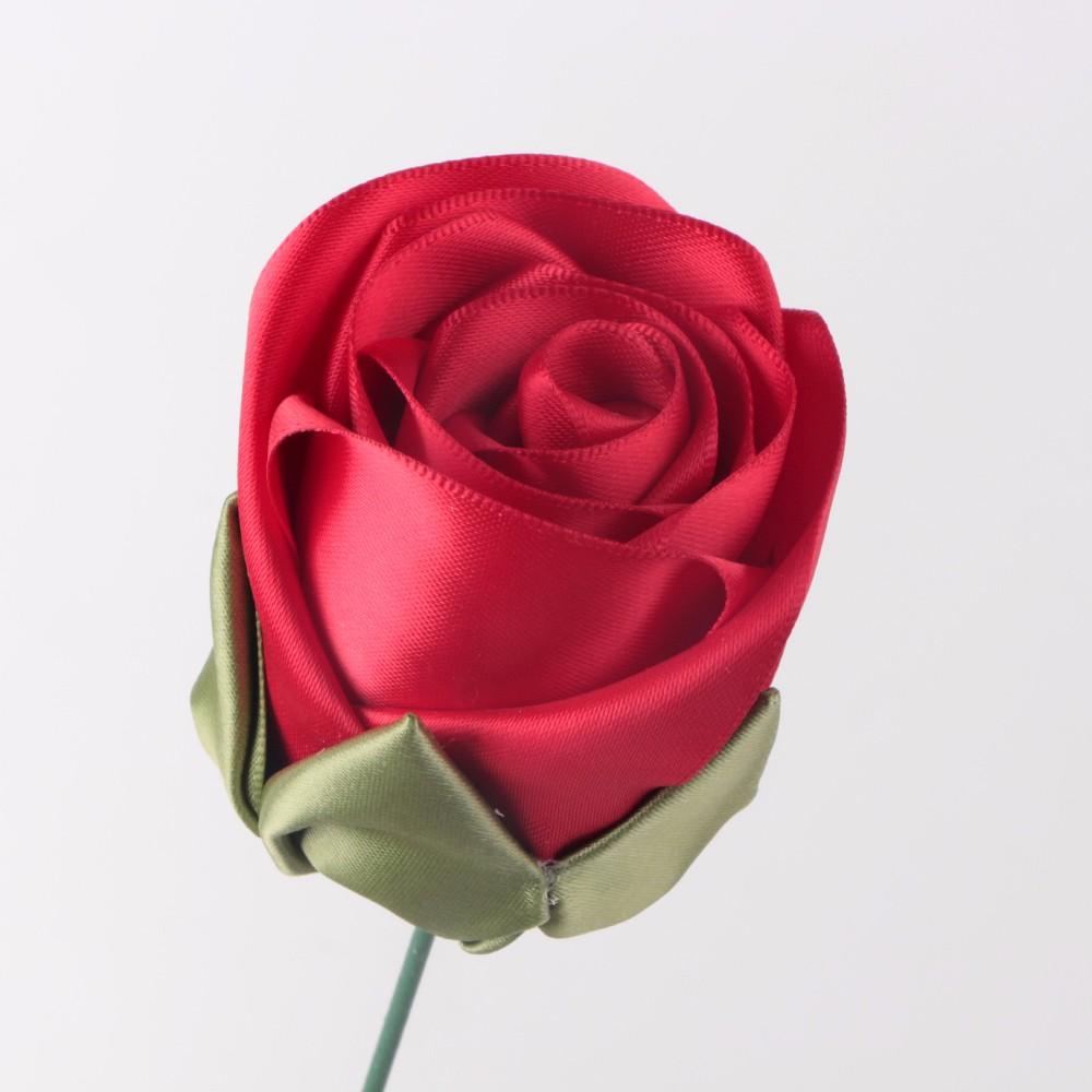 장식을위한 수제 폴리 에스테르 새틴 리본 맞춤 리본 꽃