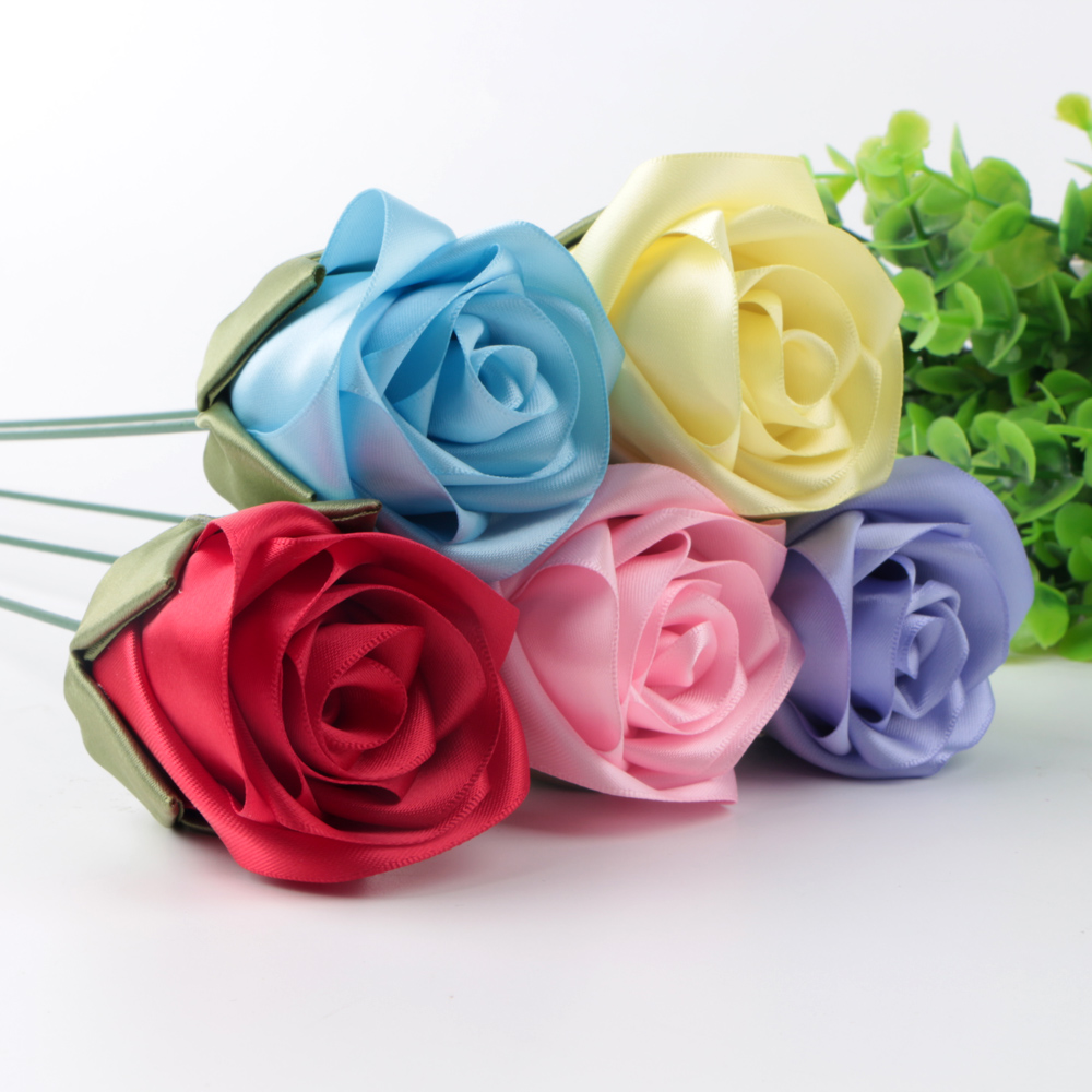 custom ribbon flowers