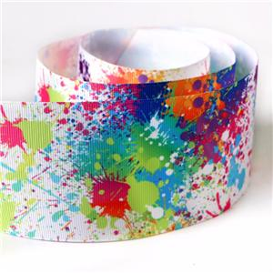 Graffiti art printing single side hest transfer printed ribbon