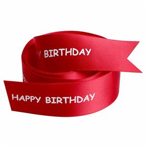 Happy birthday celebration satin printed ribbon from China manufacturer