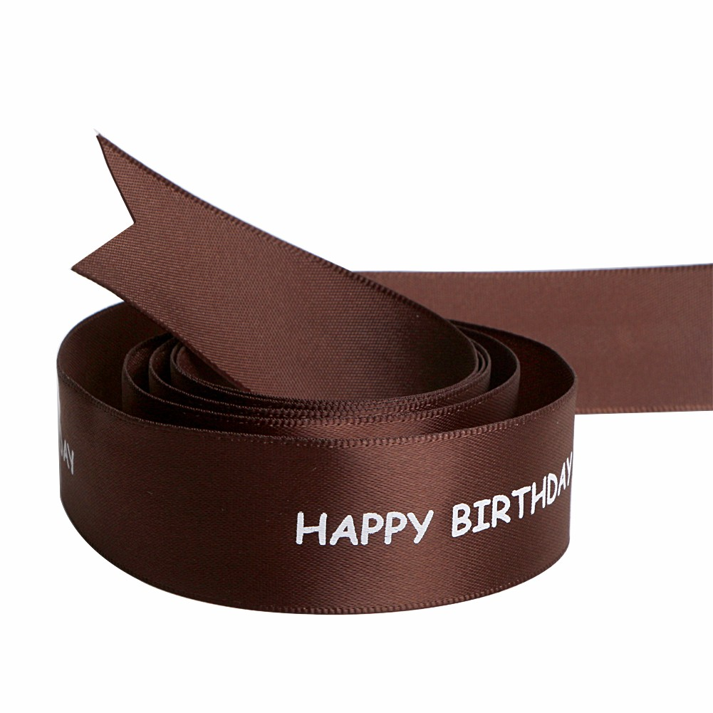Happy birthday celebration satin printed ribbon from China manufacturer Manufacturers, Happy birthday celebration satin printed ribbon from China manufacturer Factory, Supply Happy birthday celebration satin printed ribbon from China manufacturer