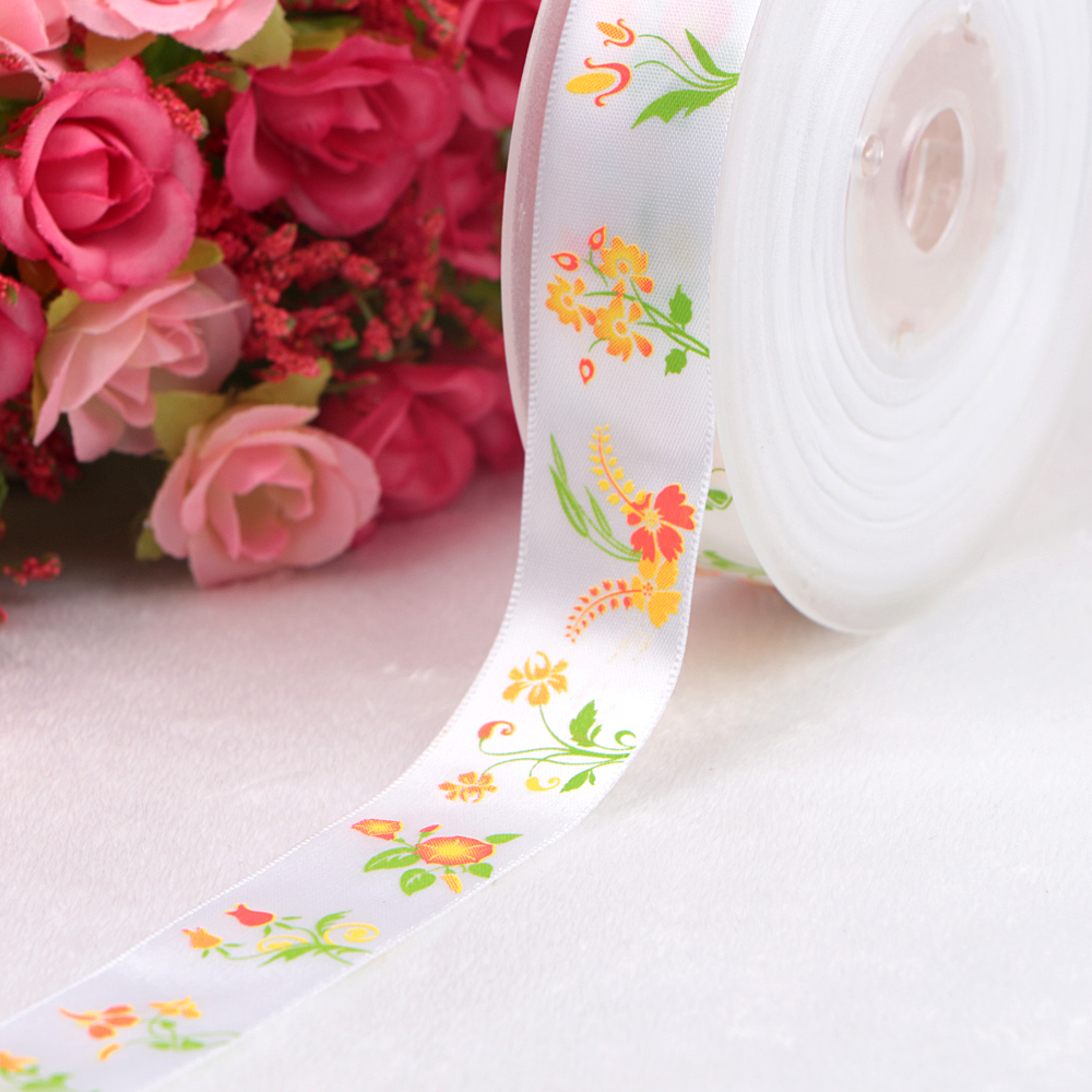 printed ribbon satin