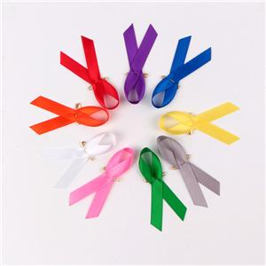 Satin ribbon custom awareness ribbon for public welfare