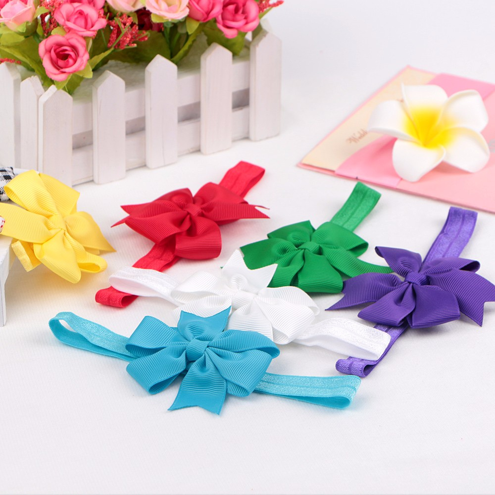 Baby hair bow hair band satin ribbon bow