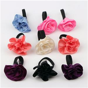 Mini ribbon flower satin ribbon bow with elastic loop perfume bottle bow