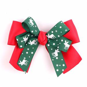 Merry Christmas Customized Decorative Ribbon Bow
