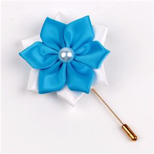 Women garment decorative satin ribbon flowers ribbon brooch