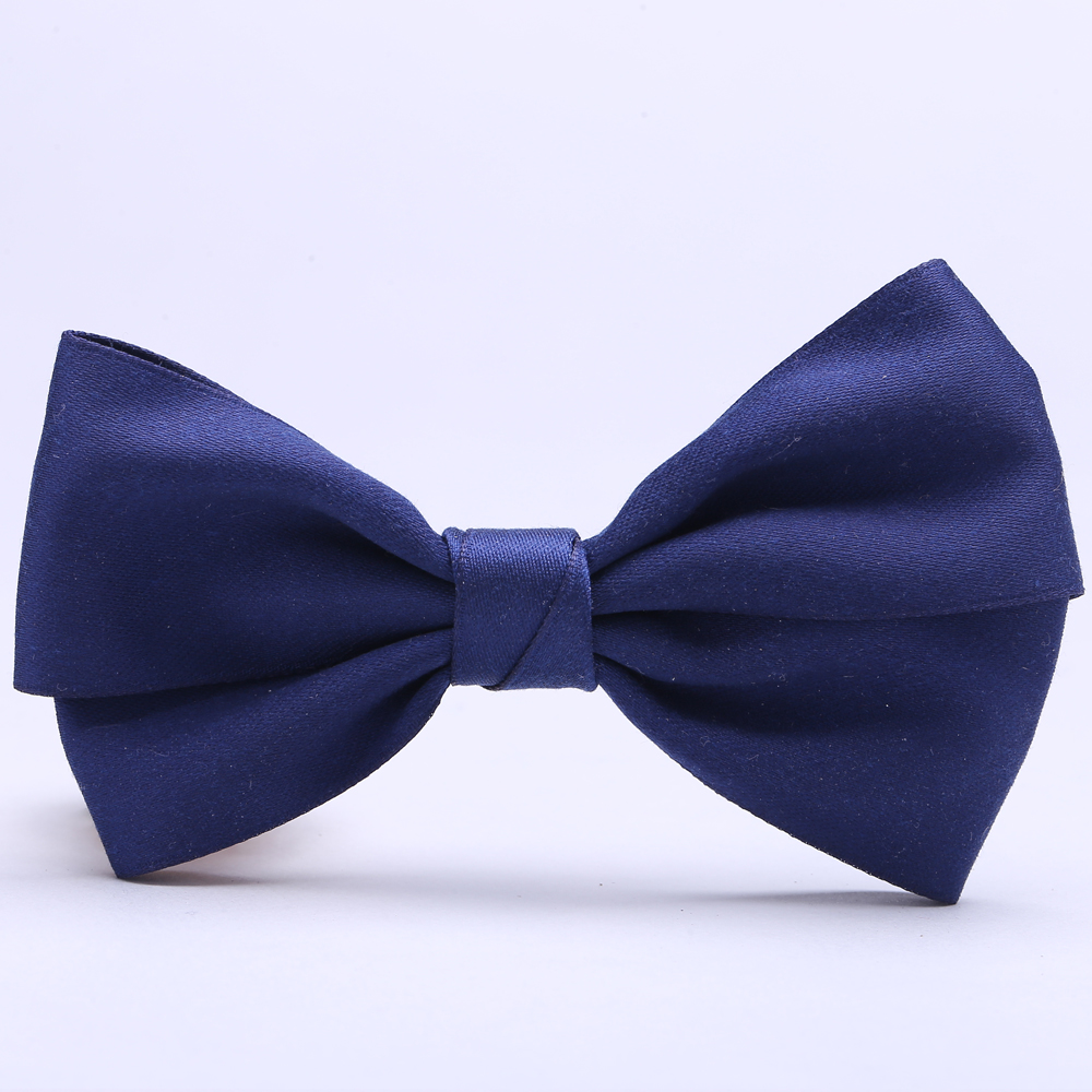 Satin ribbon bow tie