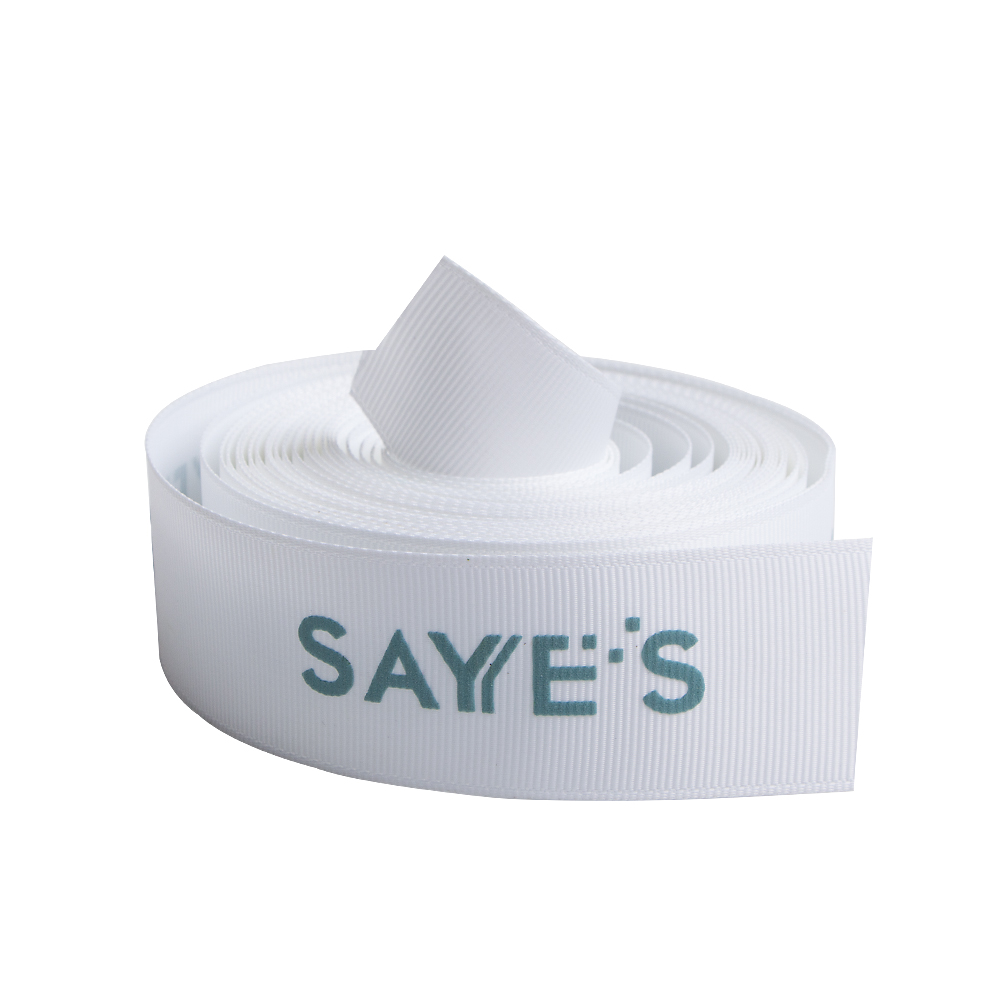 ribbon with words printed on