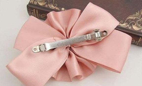 Homemade ribbon flower