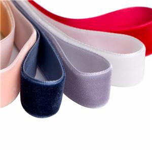 Wholesale single face custom velvet ribbon