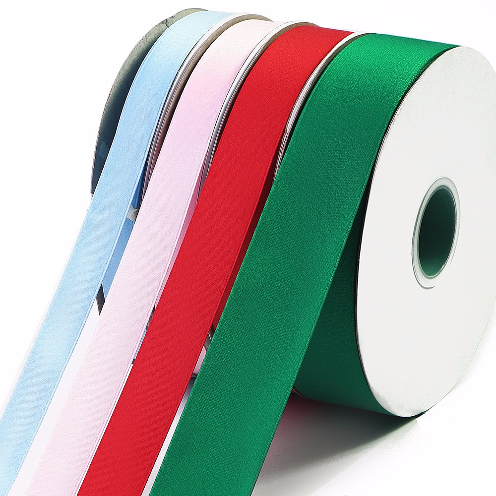 Polyester cotton ribbon 4 colors 4 sizes factory quote