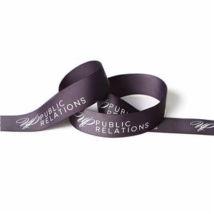 Grosgrain printed ribbon in stock