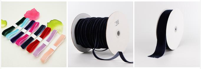 Application of velvet ribbon