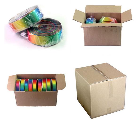 rainbow groagrain ribbon