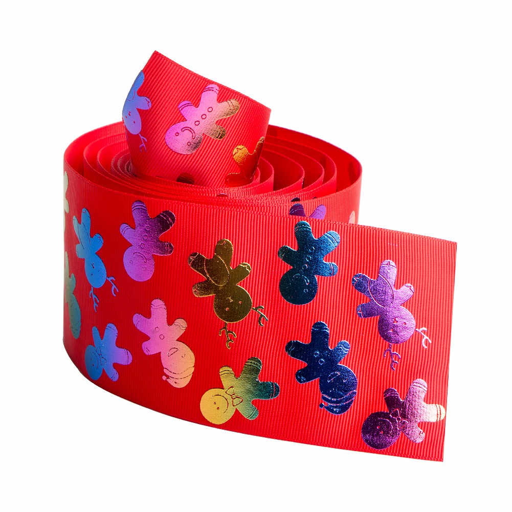 Custom grosgrain ribbon printed with snowman Manufacturers, Custom grosgrain ribbon printed with snowman Factory, Supply Custom grosgrain ribbon printed with snowman