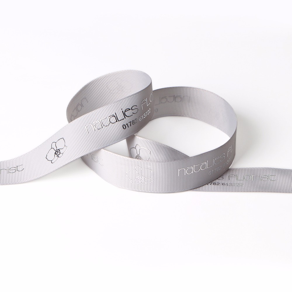Wholesale custom printed grosgrain ribbon supplier