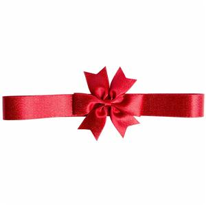 Gold purl ribbon custom red gift ribbon bow for packaging