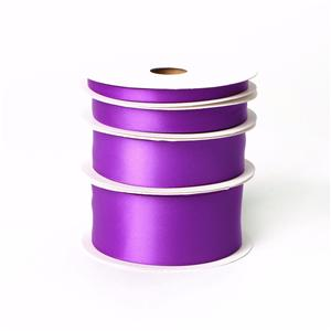 Purple color wholesale satin ribbon double sided
