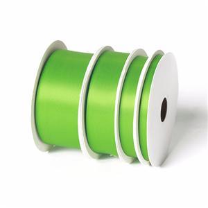 Doble cara cinta de raso verde cinta supllier para la venta