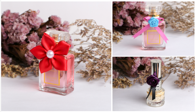 decorative ribbon bow for perfume