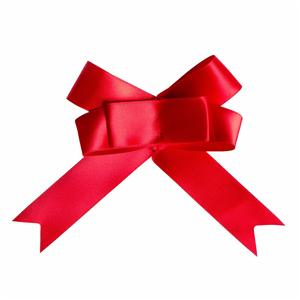 Custom satin ribbon bow for gift wrapping