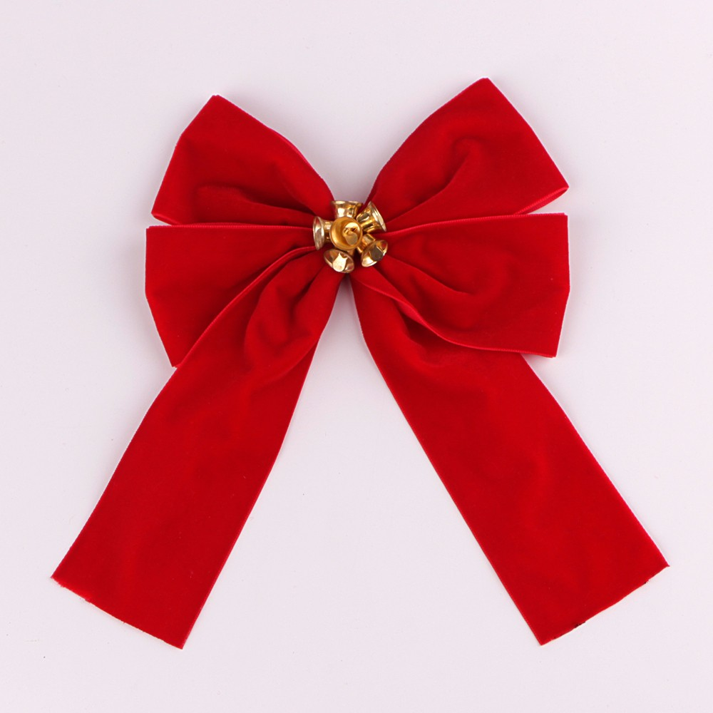 Christmas bows custom velvet ribbon bow for festival celebration