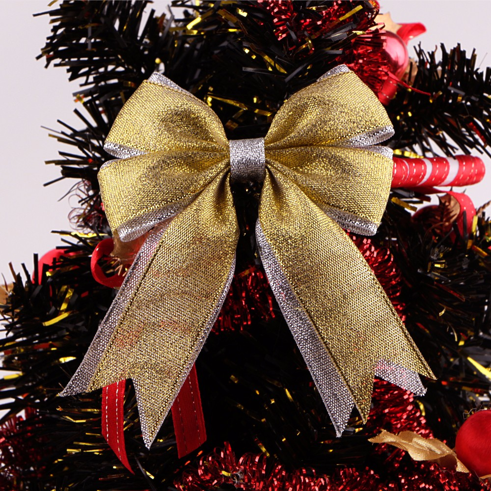 Gold and silver metallic ribbon custom ribbon bows Christmas bows Manufacturers, Gold and silver metallic ribbon custom ribbon bows Christmas bows Factory, Supply Gold and silver metallic ribbon custom ribbon bows Christmas bows