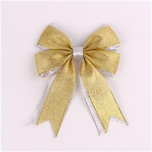 Gold and silver metallic ribbon custom ribbon bows Christmas bows