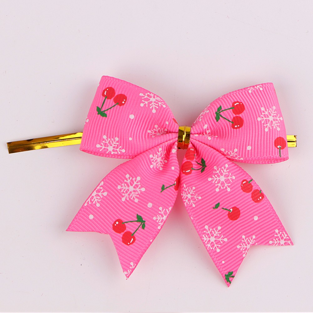 Printed grosgrain ribbon custom ribbon bows decorative bow